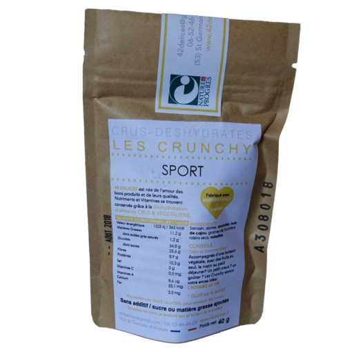 Crunchy sport 42 délices version pocket 40 g